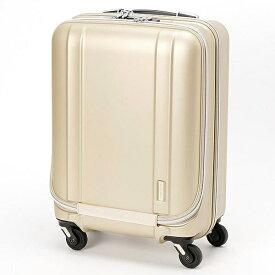 ゼログラ 静音キャスター搭載の超軽量スーツケース ZER2094-46MTGD マットゴールド [約35L]