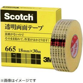 3Mジャパン スリーエムジャパン 透明両面テ−プ ライナーなし 18mmX30m 巻芯径25mm