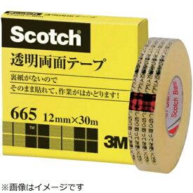 3Mジャパン スリーエムジャパン 透明両面テ−プ ライナーなし 12mmX30m 巻芯径25mm