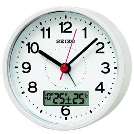 セイコー SEIKO 目覚まし時計 【スタンダード】 白パール KR333W [アナログ /電波自動受信機能有]