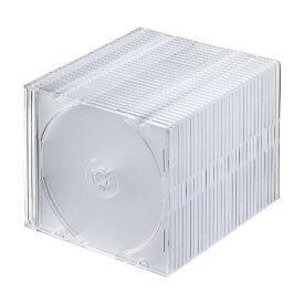 サンワサプライ SANWA SUPPLY Blu-ray/DVD/CD用スリムケース 30枚セット クリア FCD-PU30CL[FCDPU30CL]