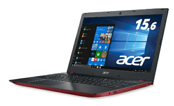 ACER エイサー E5-576-N34D/R ノートパソコン Aspire E 15 ロココレッド [15.6型 /intel Core i3 /HDD:500GB /メモリ:4GB][E5576N34DR]【point_rb】