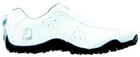 フットジョイ FootJoy 24.5cm/靴幅:3E メンズ スパイクレス ゴルフシューズ EXL Spikeless Boa(White) #45180