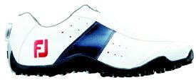 フットジョイ FootJoy 26.5cm/靴幅:3E メンズ スパイクレス ゴルフシューズ EXL Spikeless Boa(White×Navy) #45181