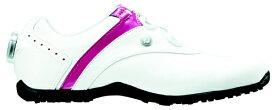 フットジョイ FootJoy 22.5cm/靴幅:3E レディース スパイクレス ゴルフシューズ LoPro SL Boa(White×Berry) #97187
