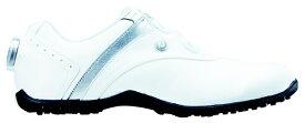 フットジョイ FootJoy 23.5cm/靴幅:3E レディース スパイクレス ゴルフシューズ LoPro SL Boa(White×Silver) #97194