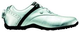 フットジョイ FootJoy 22.5cm/靴幅:3E レディース スパイクレス ゴルフシューズ LoPro SL Boa(Silver×Black) #97195