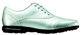 フットジョイ FootJoy 23.0cm/靴幅:3E レディース スパイクレス ゴルフシューズ Tailored Collection(Silver) #91689