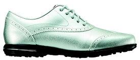 フットジョイ FootJoy 24.5cm/靴幅:3E レディース スパイクレス ゴルフシューズ Tailored Collection(Silver) #91689