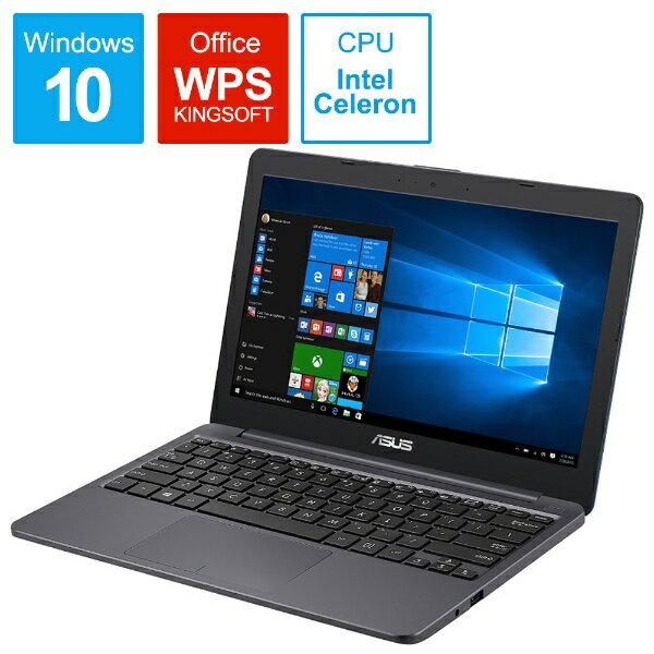 ASUS エイスース E203MA-4000G ノートパソコン スターグレー [11.6型 /intel Celeron /eMMC:64GB /メモリ:4GB /2018年6月モデル][E203MA4000G]