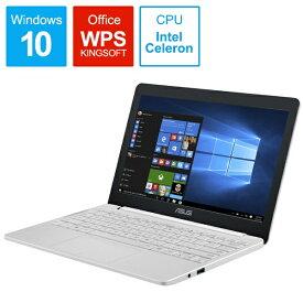 ASUS エイスース ノートパソコン パールホワイト E203MA-4000W [11.6型 /intel Celeron /eMMC:64GB /メモリ:4GB /2018年6月モデル][11.6インチ 新品 windows10 E203MA4000W]
