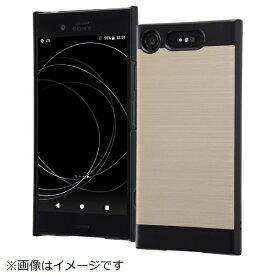 イングレム Ingrem Xperia XZ1 メタリックハードケース ブラック ゴールド IN-RXZ1MC1/BCG