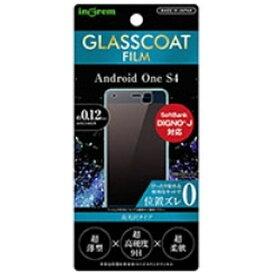イングレム Ingrem Android One S4 フィルム 9H ガラスコート 高光沢 IN-ANS4FT/T12