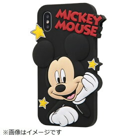 イングレム Ingrem iPhoneX シリコンダイカット ミッキー IN-DP8DC1/MK