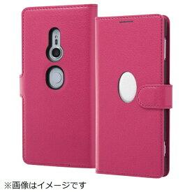イングレム Ingrem Xperia XZ2 手帳型ケース バンカーホール ピンク ホワイト IN-RXZ2ELC5/PW