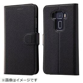 イングレム Ingrem ASUS ZenFone 3手帳型ケース シンプル マグネット ブラック IN-ARAZ3ELC1/BB