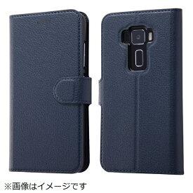 イングレム Ingrem ASUS ZenFone 3手帳型ケース シンプル マグネット ダークネイビー IN-ARAZ3ELC1/DN