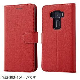 イングレム Ingrem ASUS ZenFone 3手帳型ケース シンプル マグネット レッド IN-ARAZ3ELC1/R