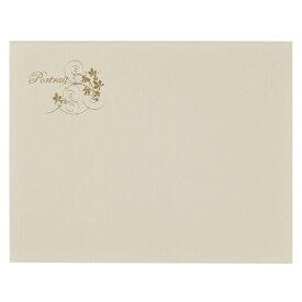 チクマ Chikuma 写真台紙No.37 横ハガキ2面 クリーム 12999-8 クリーム [ヨコ /KG・ポストカードサイズ /2面]