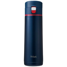 T-fal ティファール ステンレスマグボトル 430ml Clean Mug(クリーンマグ)ワンプッシュタイプ マリン K23465[K23465]
