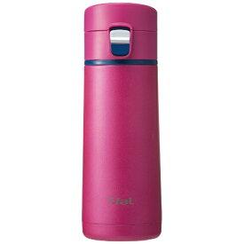 T-fal ティファール ステンレスマグボトル 350ml Clean Mug(クリーンマグ)ワンプッシュタイプ マゼンタ K23402[K23402]
