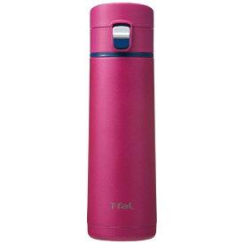 T-fal ティファール ステンレスマグボトル 430ml Clean Mug(クリーンマグ)ワンプッシュタイプ マゼンタ K23405[K23405]