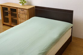 イケヒコ IKEHIKO 【敷ふとんカバー】リバーシブル敷き布団カバー シングルサイズ(105×215cm グリーン/ライトグリーン)
