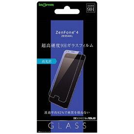 イングレム Ingrem ASUS ZenFone 4 ZE554KL ガラスフィルム 9H 光沢 ソーダガラス IN-RAZ4F/SCG