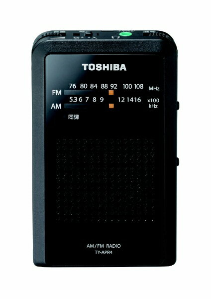 東芝 TOSHIBA TY-APR4 携帯ラジオ ブラック [AM/FM /ワイドFM対応][TYAPR4]