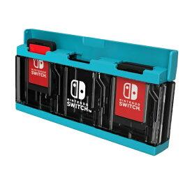 HORI ホリ プッシュカードケース6 for Nintendo Switch ネオンブルー NSW-127【Switch】