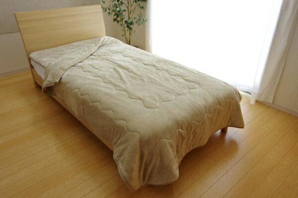 イケヒコ 17 フランIT2枚合わせ毛布(シングルサイズ/140×200cm/ベージュ)