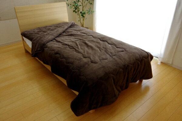 イケヒコ 17 フランIT2枚合わせ毛布(ダブルサイズ/180×200cm/ブラウン)