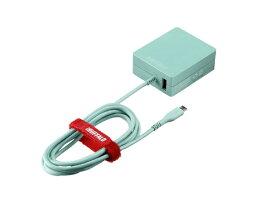 BUFFALO バッファロー [micro USB]ケーブル一体型AC充電器 APS2.4A ケーブル+USB BSMPA2418BC2BL ブルー [USB給電対応 /2ポート]