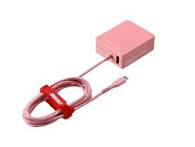 BUFFALO バッファロー [micro USB]ケーブル一体型AC充電器 APS2.4A ケーブル+USB ピンク BSMPA2418BC2PK [2ポート /Smart IC対応]