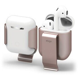 ELAGO エラゴ AirPods用ケース CarryingClip for AirPods elago ローズゴールド EL_APDCSPCCL_RG