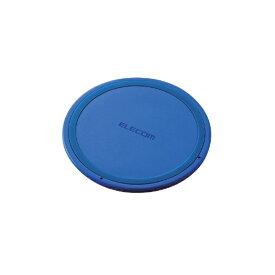 エレコム ELECOM ワイヤレス充電器[Qi対応] 5W 薄型 卓上 W-QA03XBU ブルー [USB給電対応 /ワイヤレスのみ][WQA03XBU]