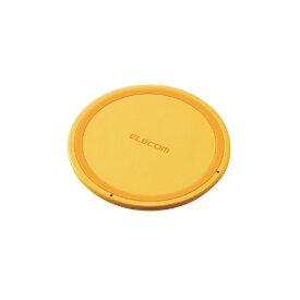 エレコム ELECOM ワイヤレス充電器[Qi対応] 5W 薄型 卓上 イエロー W-QA03XYL イエロー [USB給電対応 /ワイヤレスのみ][WQA03XYL]