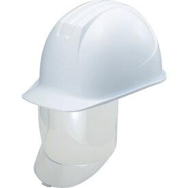 谷沢製作所 TANIZAWA SEISAKUSHO タニザワ 大型シールド面付ヘルメット 溝付 ホワイト
