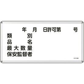 日本緑十字 JAPAN GREEN CROSS 緑十字 消防・危険物標識 類別・品名・保安監督者 300×600mm スチール