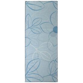 生毛工房 【まくらカバー】綿ローン リーフ 標準サイズ(綿100%/45×90cm/ブルー)【日本製】