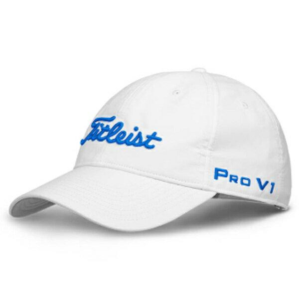 タイトリスト レディース ゴルフ キャップ ヘッドギア ウィメンズ ツアーキャップ(フリーサイズ:55〜57cm/ホワイト×ブルー)HJ8LTR