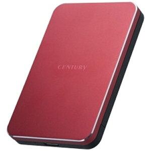 センチュリー Century Corporation CSB25U3RD6G HDDケース ミラージュレッド [SATA /1台 /2.5インチ対応]