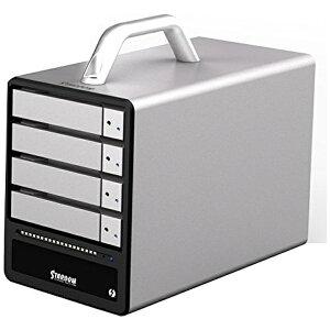 RAIDON ST4-TB HDDケース STARDOM シルバー [SATA /4台 /3.5インチ&2.5インチ対応]
