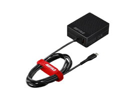 BUFFALO バッファロー [micro USB]ケーブル一体型AC充電器 APS2.4A ケーブル+USB ブラック BSMPA2418BC2BK [2ポート /Smart IC対応]