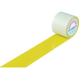 日本緑十字 JAPAN GREEN CROSS 緑十字 ガードテープ(ラインテープ) 黄 100mm幅×100m 屋内用