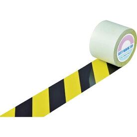 日本緑十字 JAPAN GREEN CROSS 緑十字 ガードテープ(ラインテープ) 黄/黒(トラ柄) 100mm幅×100m