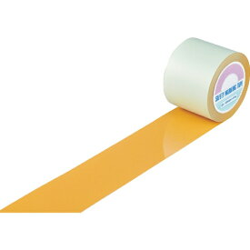 日本緑十字 JAPAN GREEN CROSS 緑十字 ガードテープ(ラインテープ) オレンジ 100mm幅×100m 屋内用