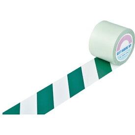 日本緑十字 JAPAN GREEN CROSS 緑十字 ガードテープ(ラインテープ) 白/緑(トラ柄) 100mm幅×100m