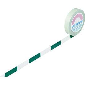 日本緑十字 JAPAN GREEN CROSS 緑十字 ガードテープ(ラインテープ) 白/緑(トラ柄) 25mm幅×20m