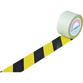 日本緑十字 JAPAN GREEN CROSS 緑十字 ガードテープ(ラインテープ) 黄/黒(トラ柄) 75mm幅×100m